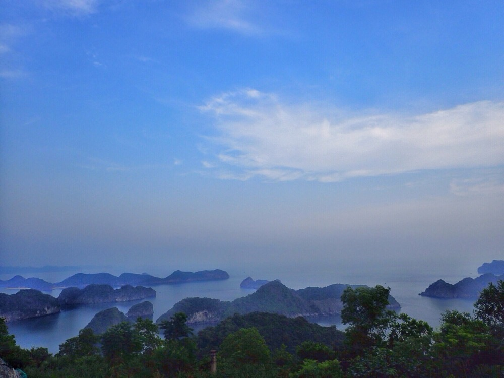 Stunning view from Cat Ba Island.