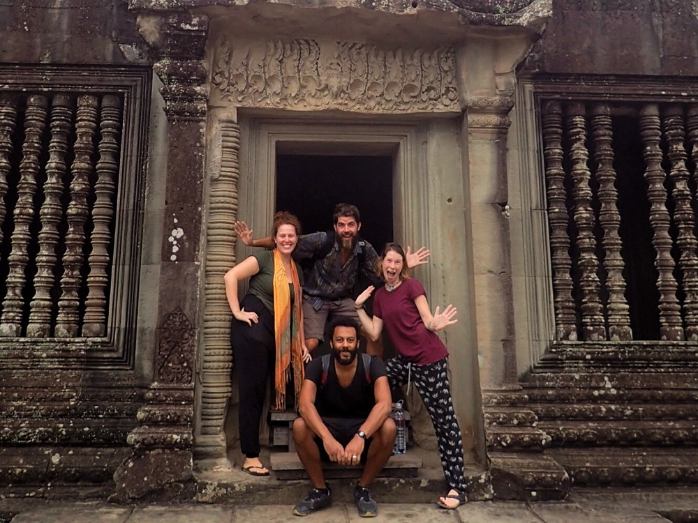 Acting the fool at Angkor Wat