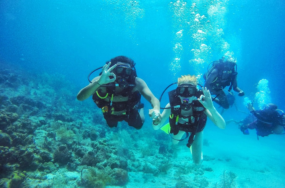 Our first scuba dive in Colombia