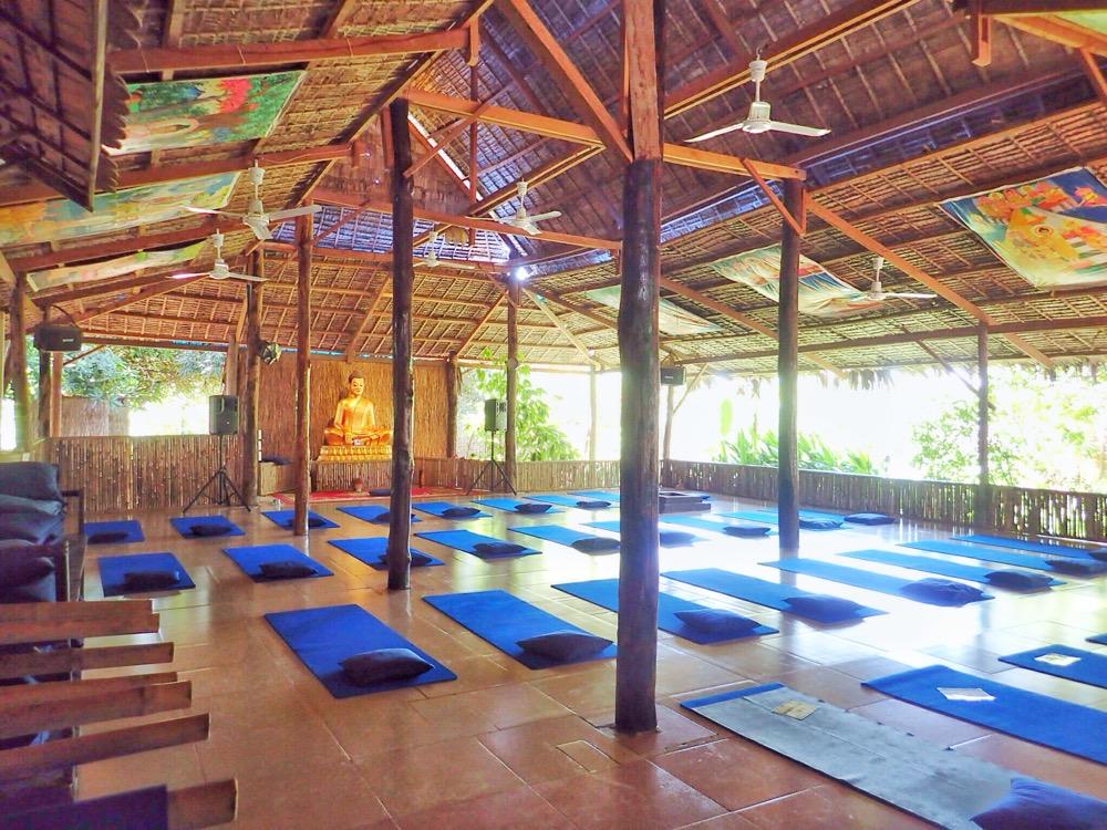The yoga hall