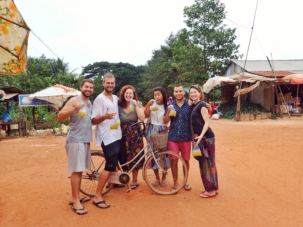 Trip out into the village for sugar cane with new friends