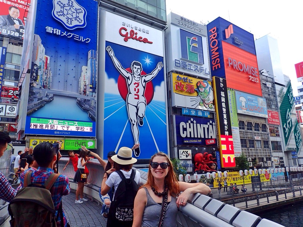 The Glico running man in Osaka