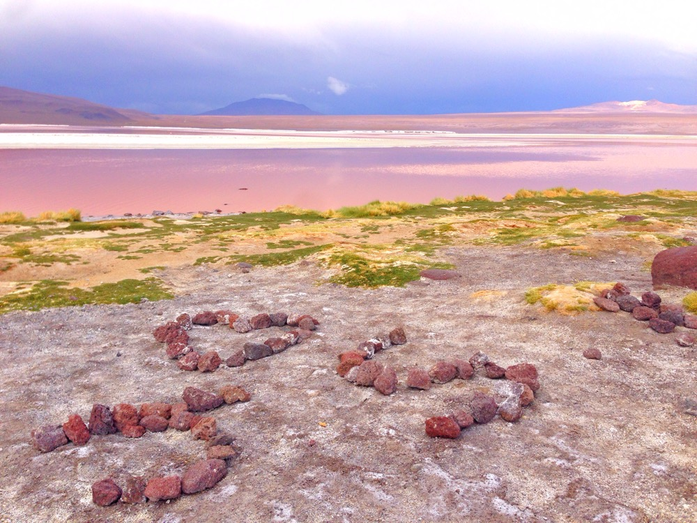 Red rocks at the Red Lake, Bolivia