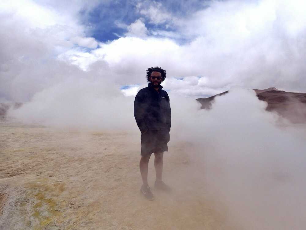 Geysers at the Bolivian Salt Flats