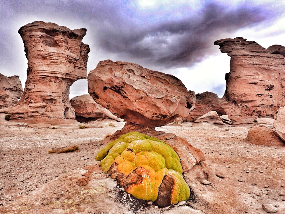 Weird rock formations Bolivia