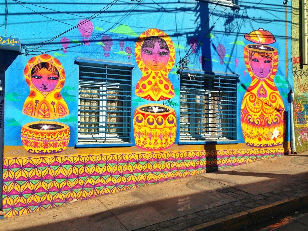 Valparaiso Russian Dolls Street Art