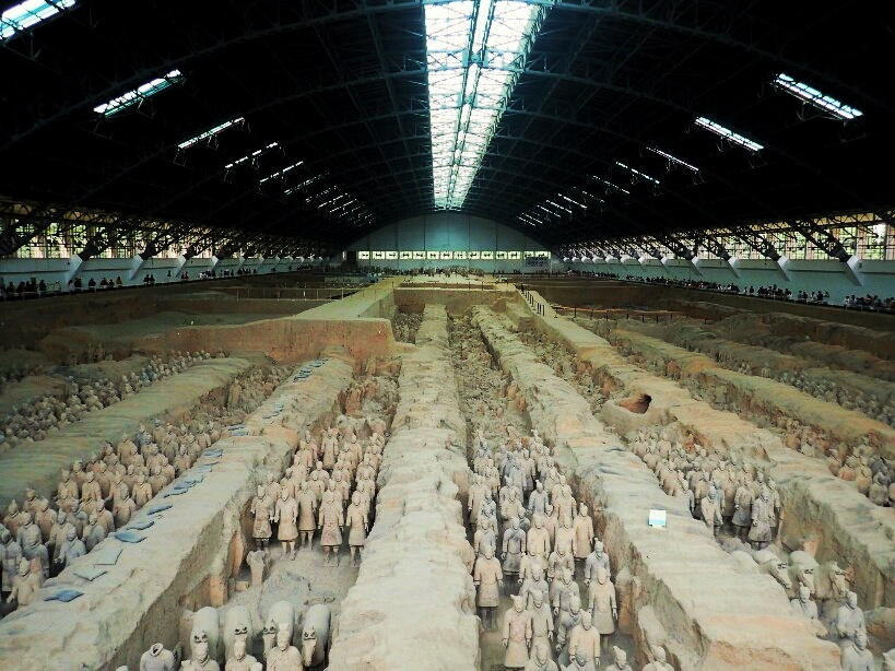 Chamber 1 terracotta warriors