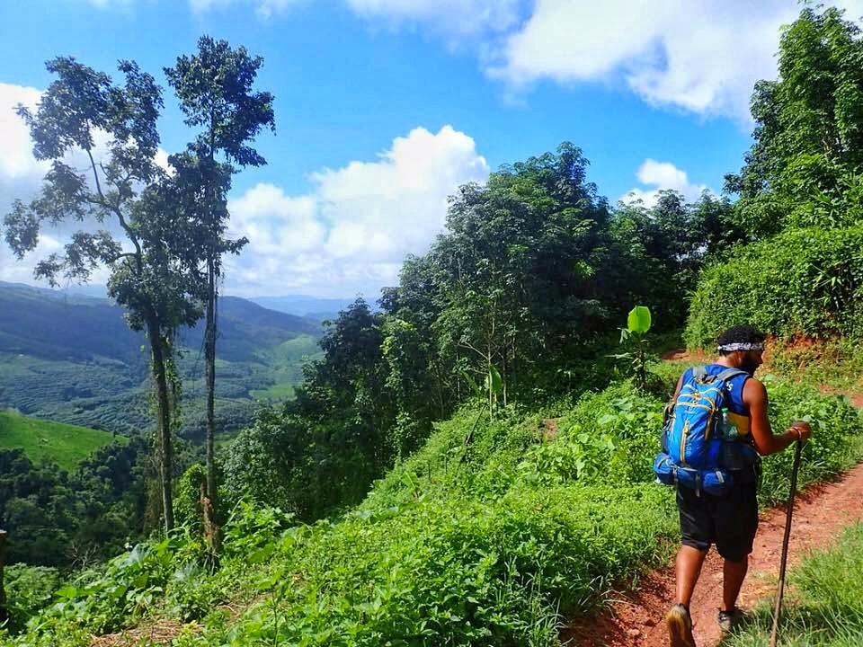Trekking in rainy season