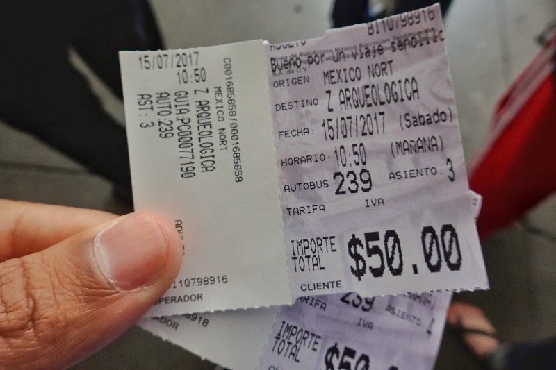 Teotihuacan tickets with time on