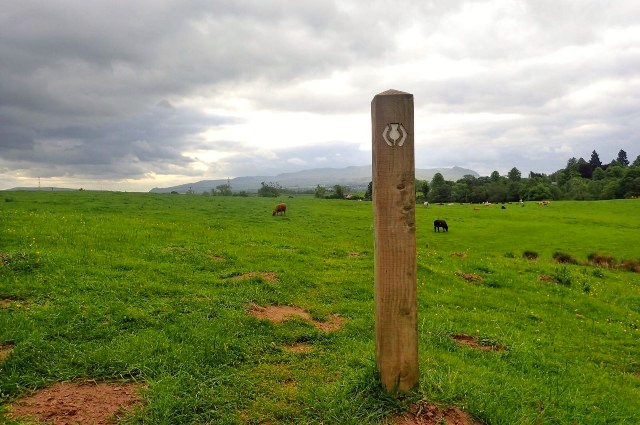 The West Highland Way sign shows the way