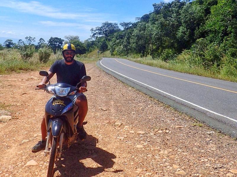 Renting a motorbike in Cambodia
