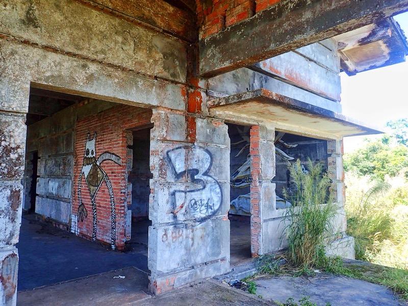 Abandoned buildings Bokor Mountain