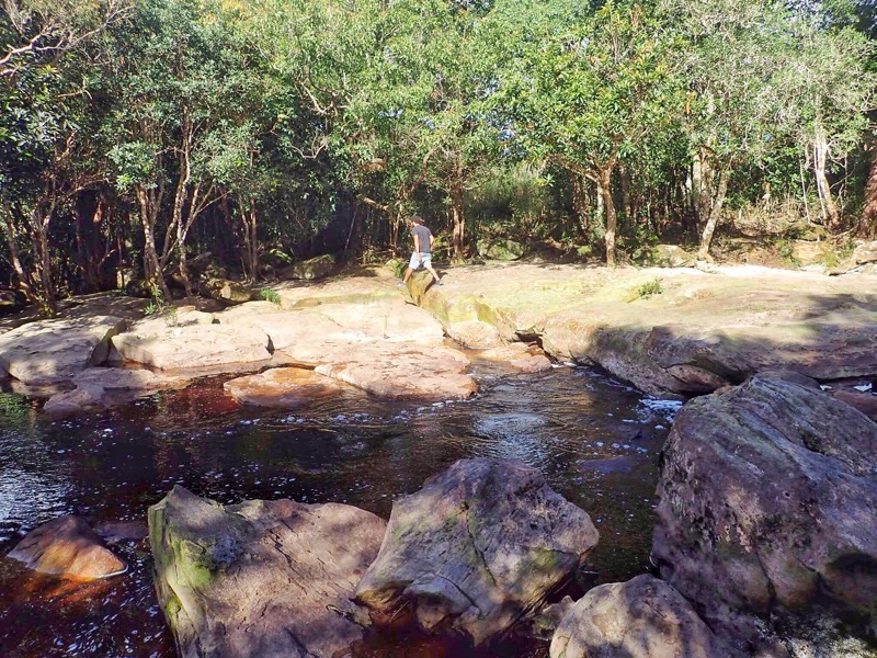Popokvil Waterfall in Summer