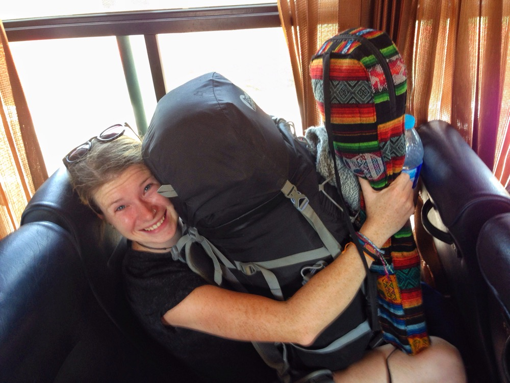 First Time Backpacker On Bus