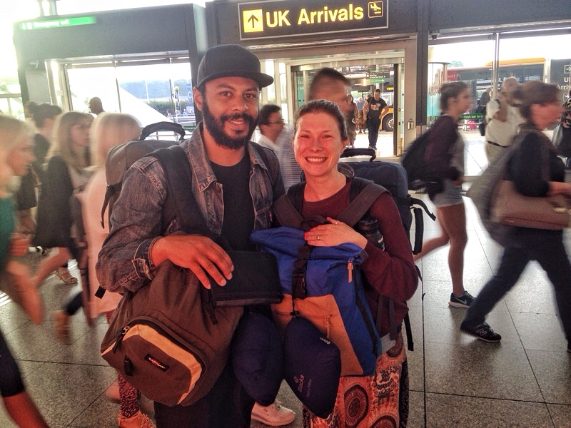 Backpackers Setting Off To Travel The World
