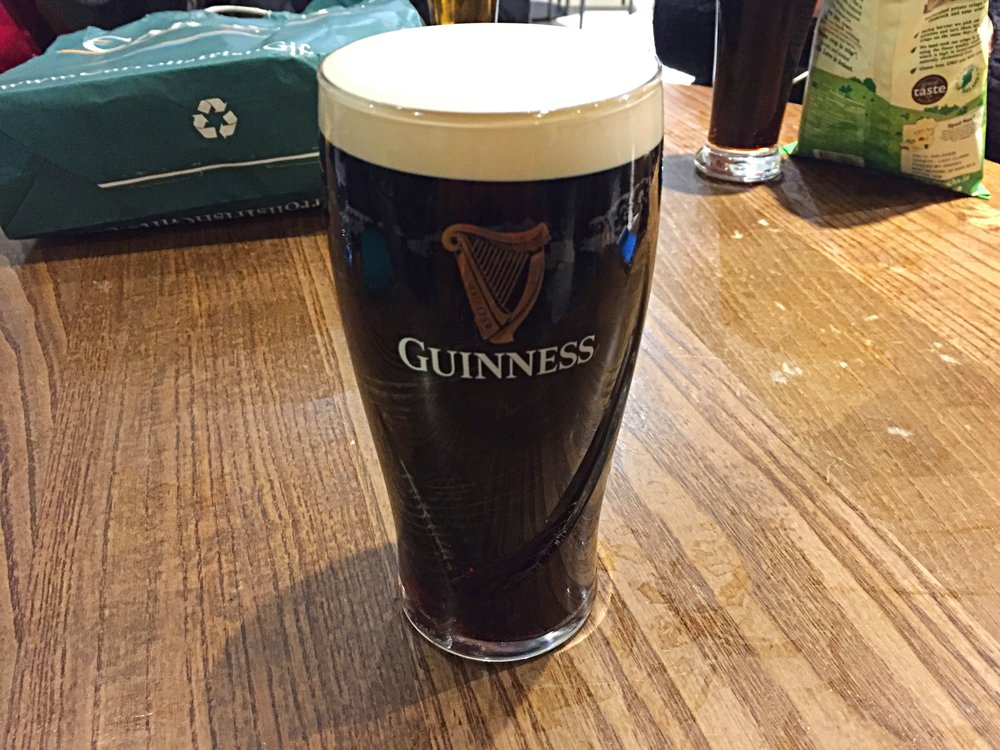 Perfect pint of cold Guinness
