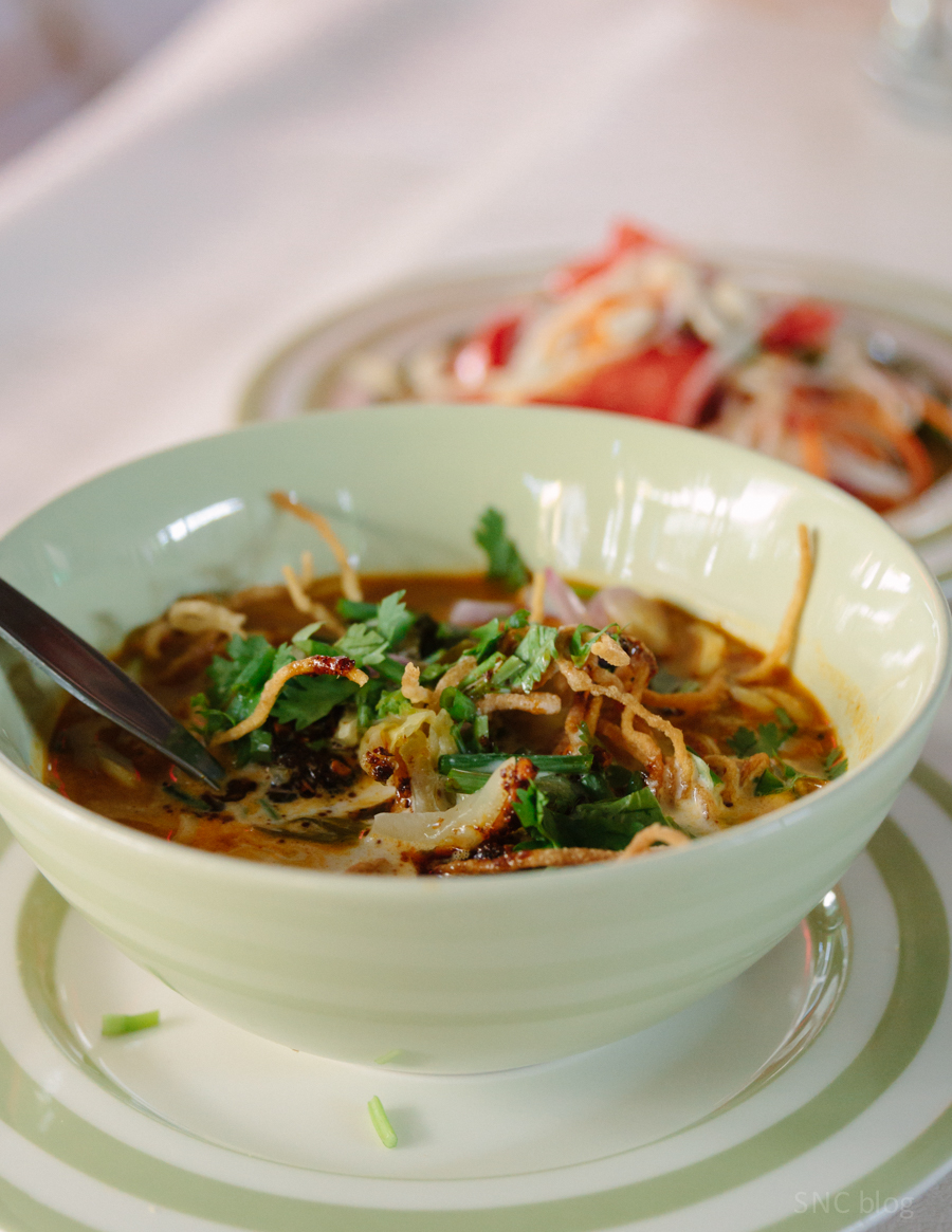 Thai Khao Soi noodles made from scratch