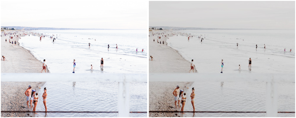 Above: left image is Jpeg straight out of camera, right image is Jpeg processed with VSCO Cam M5 preset.