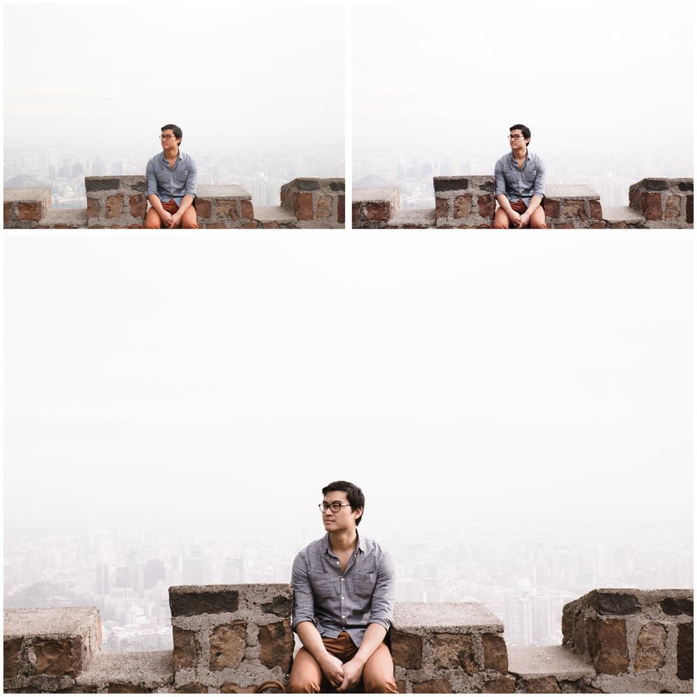 Looking over Santiago city.Unedited jpeg (top left), VSCO Cam SE3 mobile edit (top right), Lightroom SE3 edit (bottom)