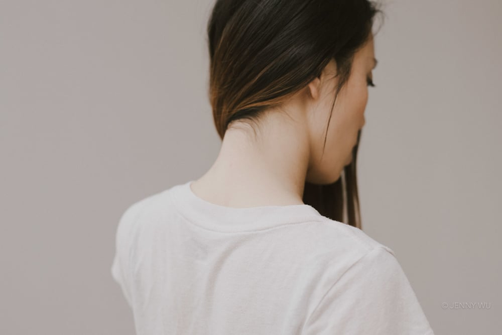 Self portrait neck and hair