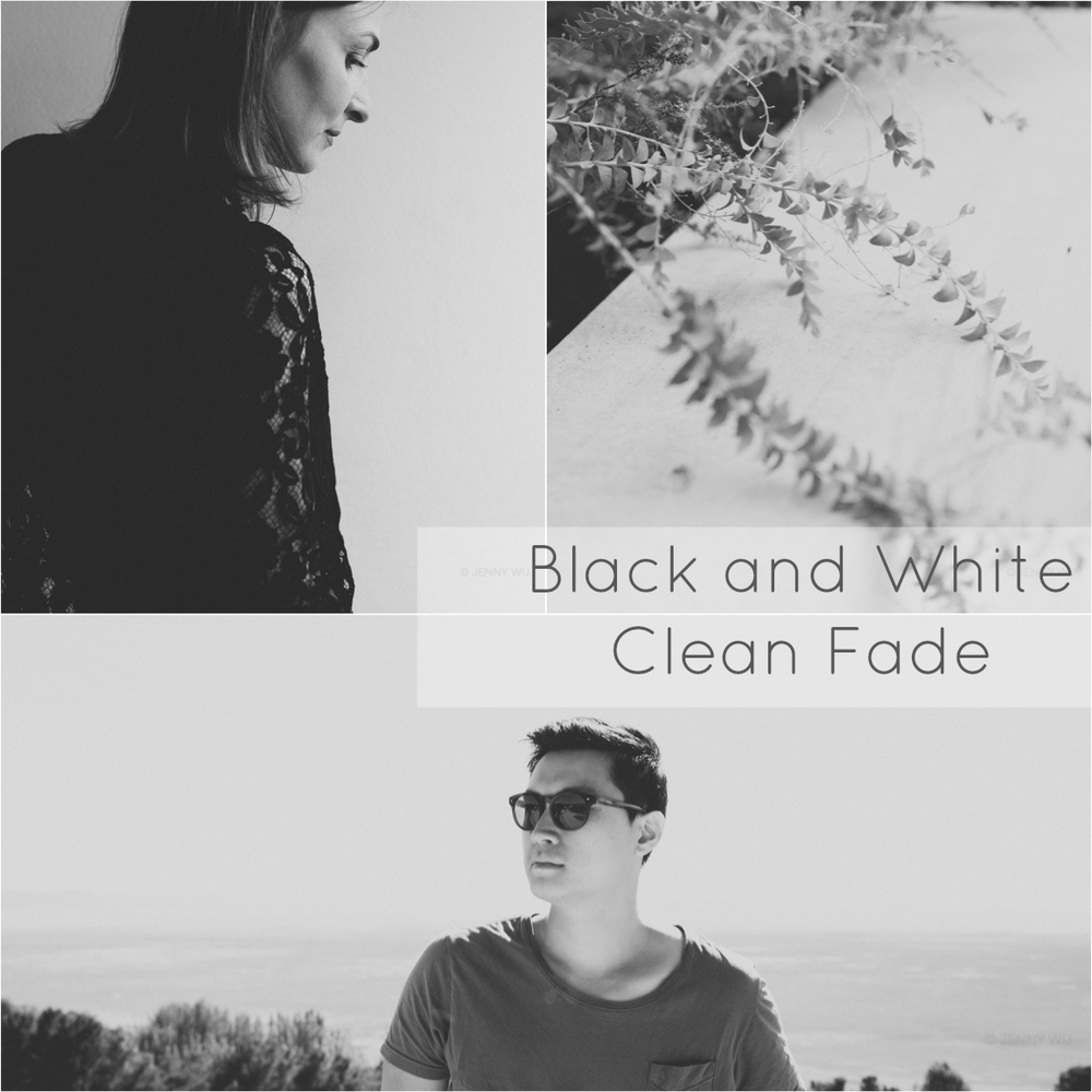Black and white Lightroom preset Clean Fade