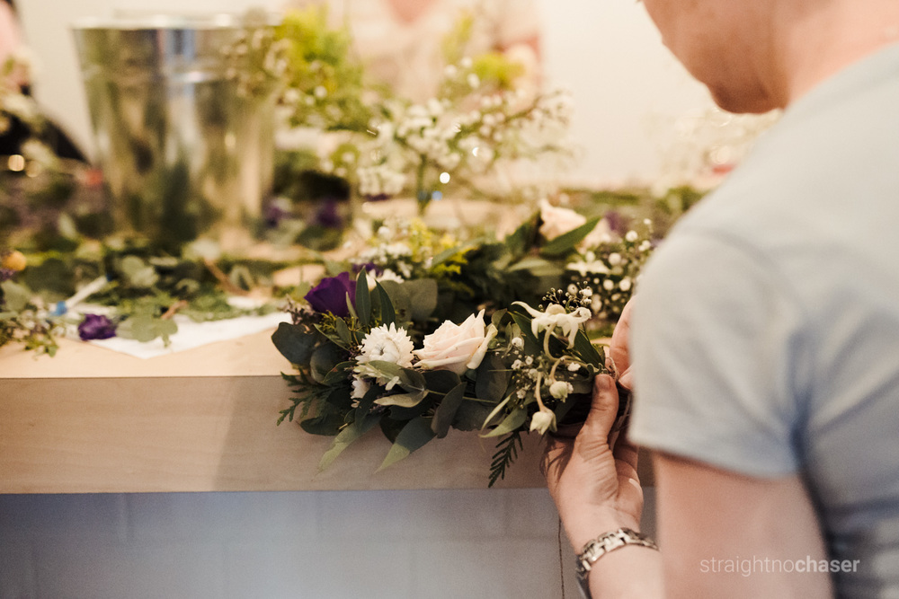 Floral Society wreath making workshop. Canberra events and commercial photographer