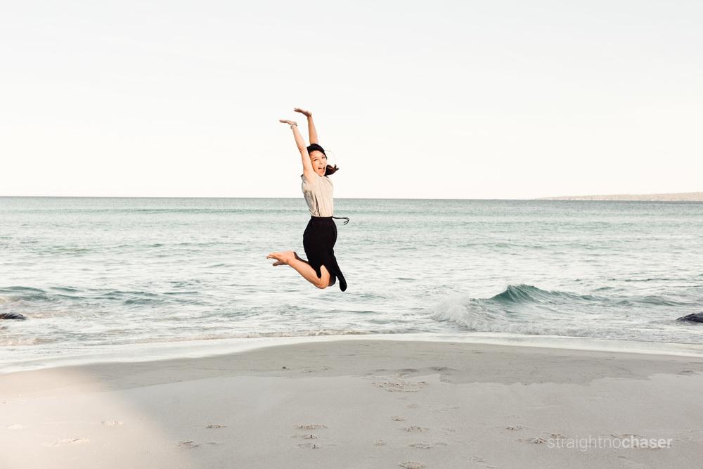Jump! Bay of Fires, Tasmania honeymoon