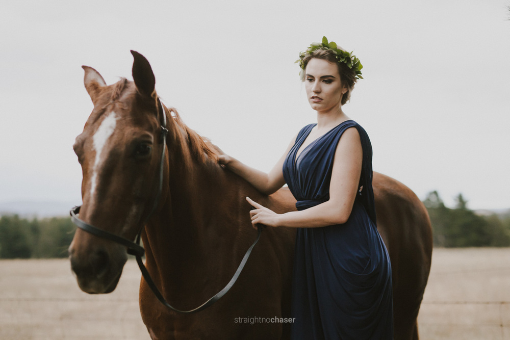Editorial boho portraits at Canberra horse riding school