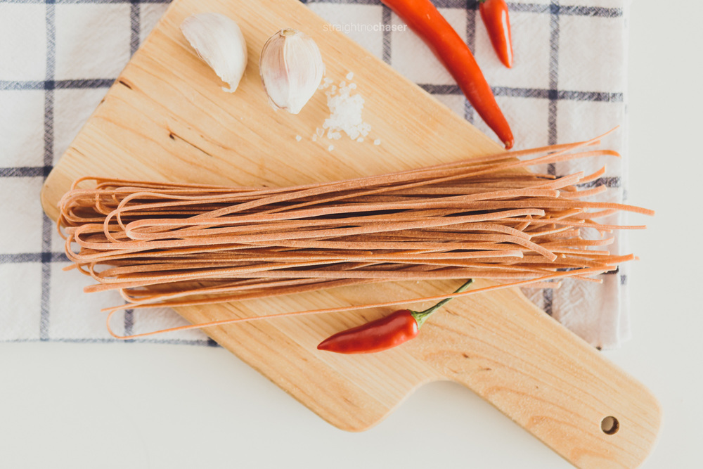 Chilli Favoured pasta available online by Pasta People- Canberra food styling and photography