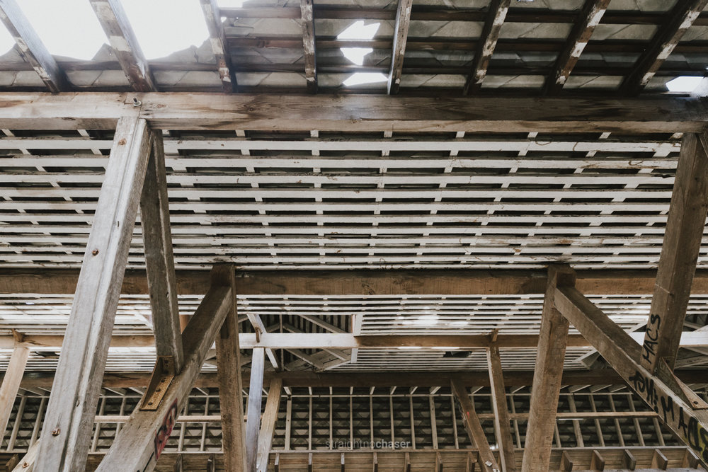 Ceilings of the abandoned Tooth's Brewery Mittagong  Photography by Jenny Wu