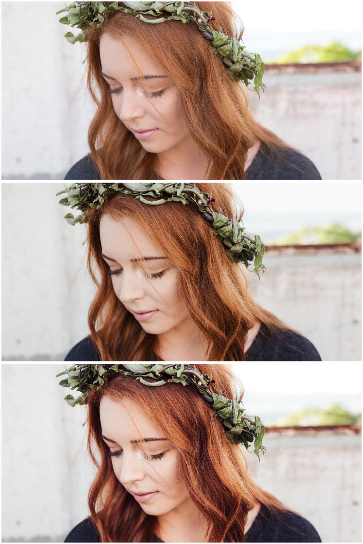 Unedited (top), A6 Lightroom preset (middle) A6+ preset (bottom)