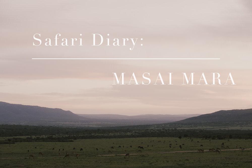 Masai mara safari diary