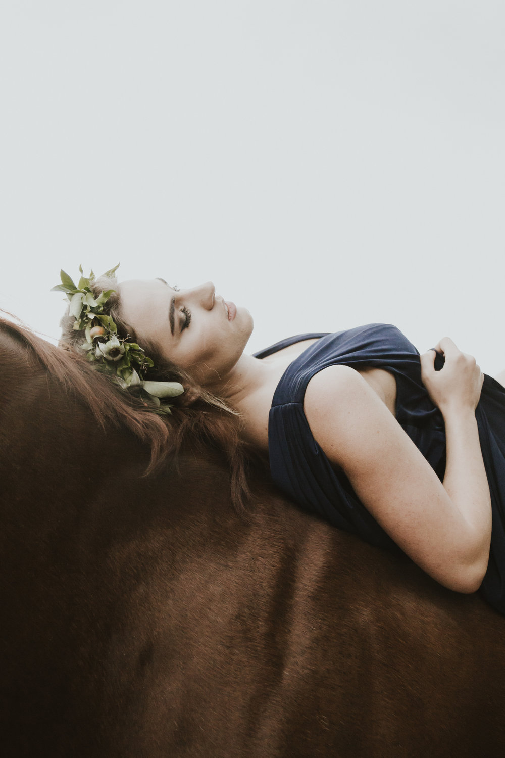 Girl on horse editorial portraits