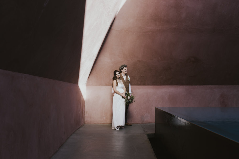 James Turrell Skyspace Portraits Wedding Canberra