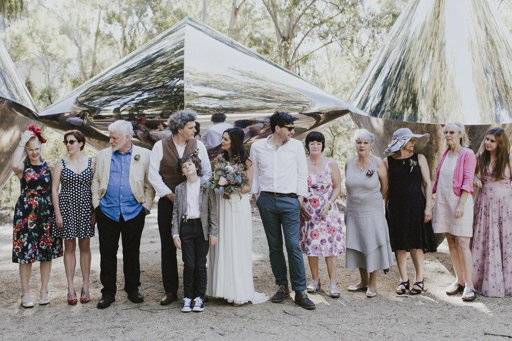 National Gallery Sculpture Garden Wedding- 'Cones' Steel Sculpture