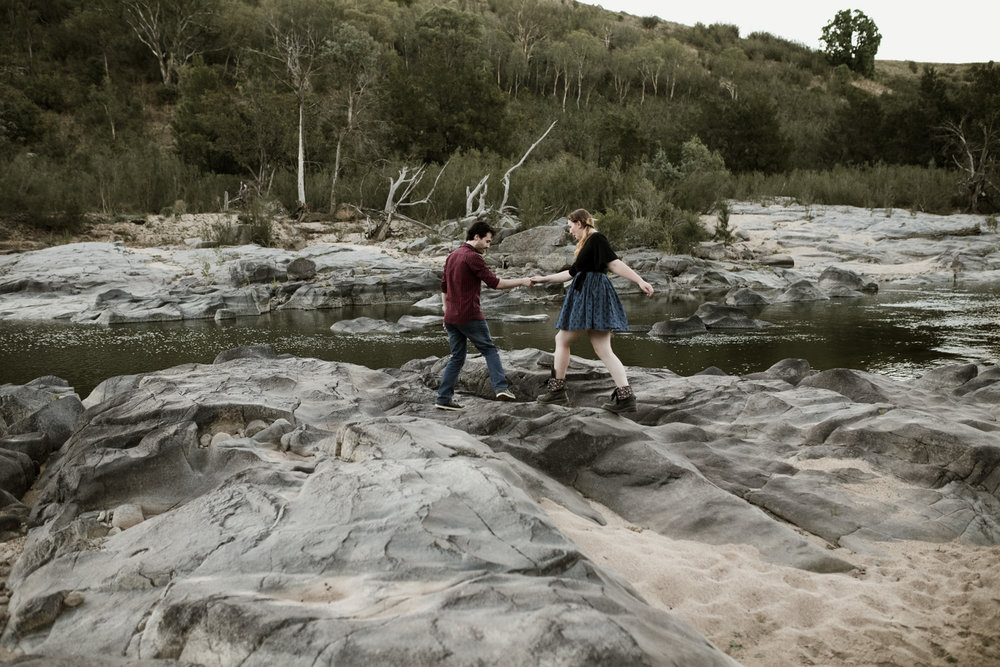 Reece and Sarah: Wallaroo Farm Engagement Session Canberra