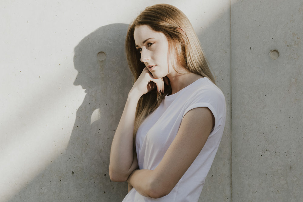 Minimalist portraits of Ashleigh at ANU- editorial