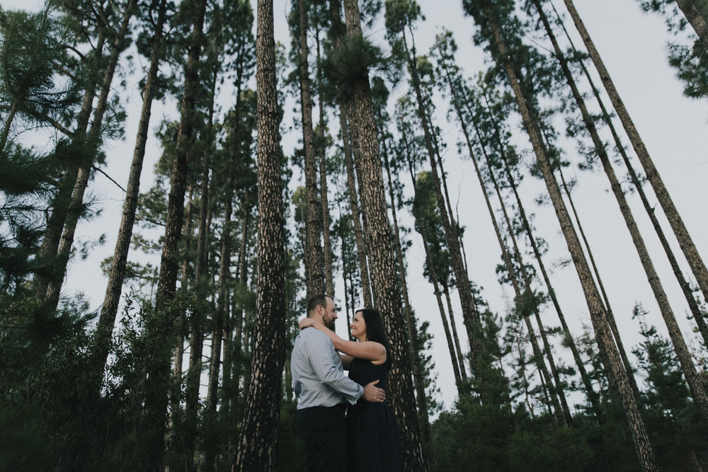Sarah and Kaya: Stromlo Forest Engagement portraits Canberra