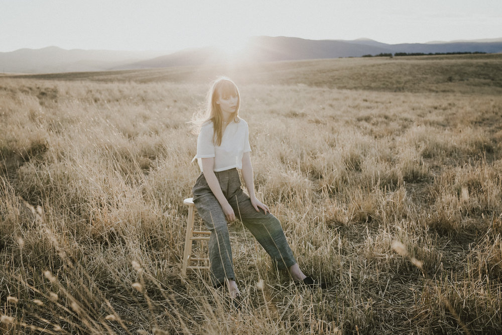 Frolicking in an open field- an editorial shot in Canberra by Jenny Wu