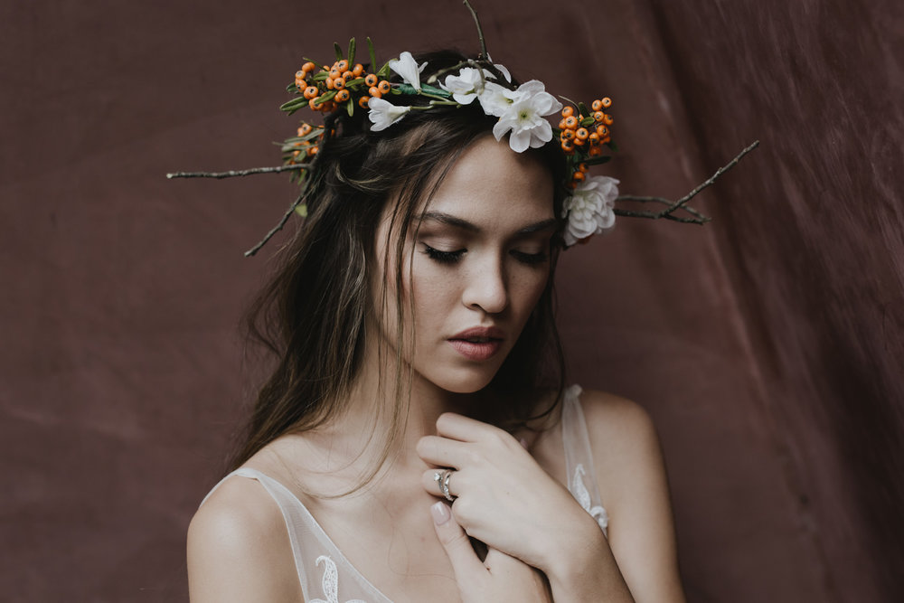 Boho Bridal shoot- model Sinead Carpenter photographer Jenny Wu