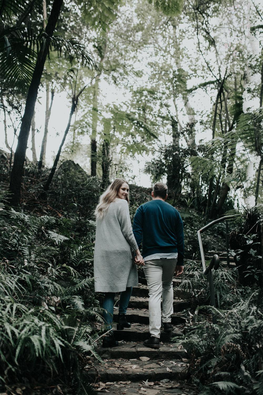 Ash & Josh: Canberra Botanical Gardens Engagement Portrait Shoot