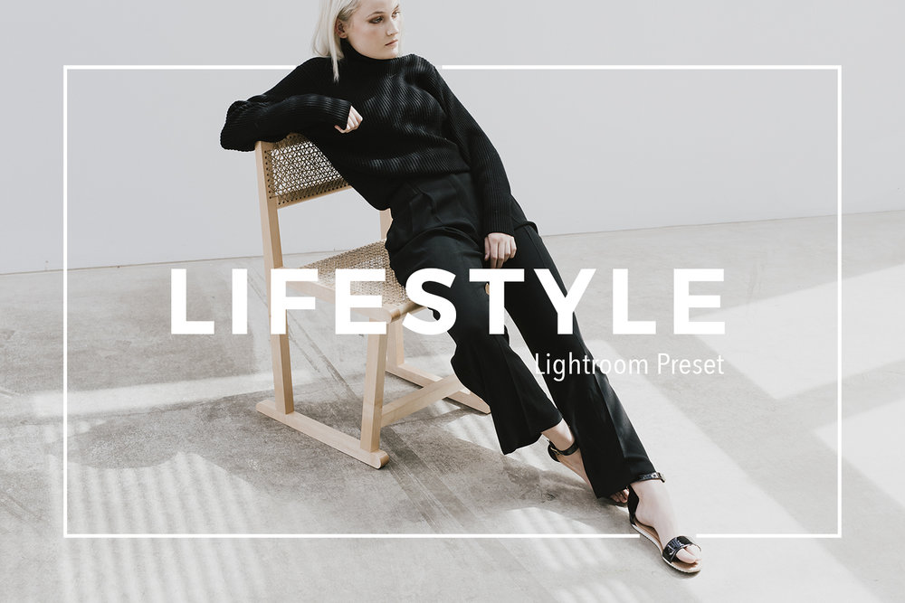 LIfestyle preset for Lightroom and ACR- clean minimalist aesthetic