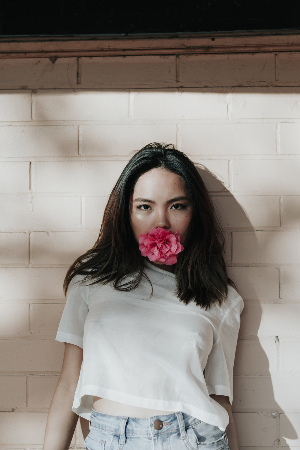 Bonbon - an obsession with pink walls and flower mouths - editorial shot by Jenny Wu Straight No Chaser Photography