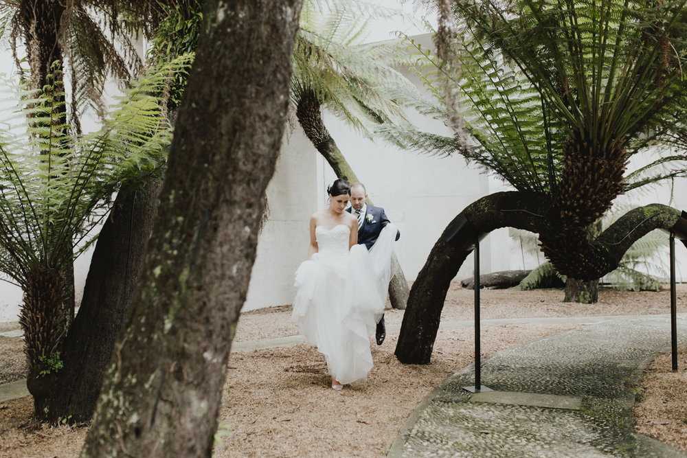 Fern Garden, National Gallery of Australia Wedding photography by Jenny Wu Straight No Chaser