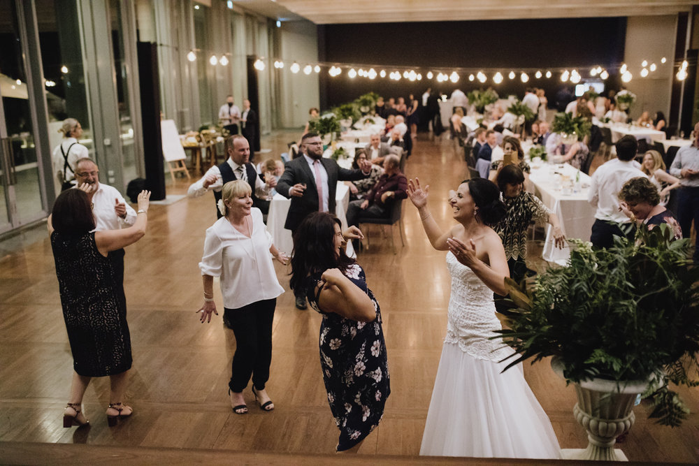 Gandel Hall NGA Wedding Reception Canberra Photography by Jenny Wu Straight No Chaser
