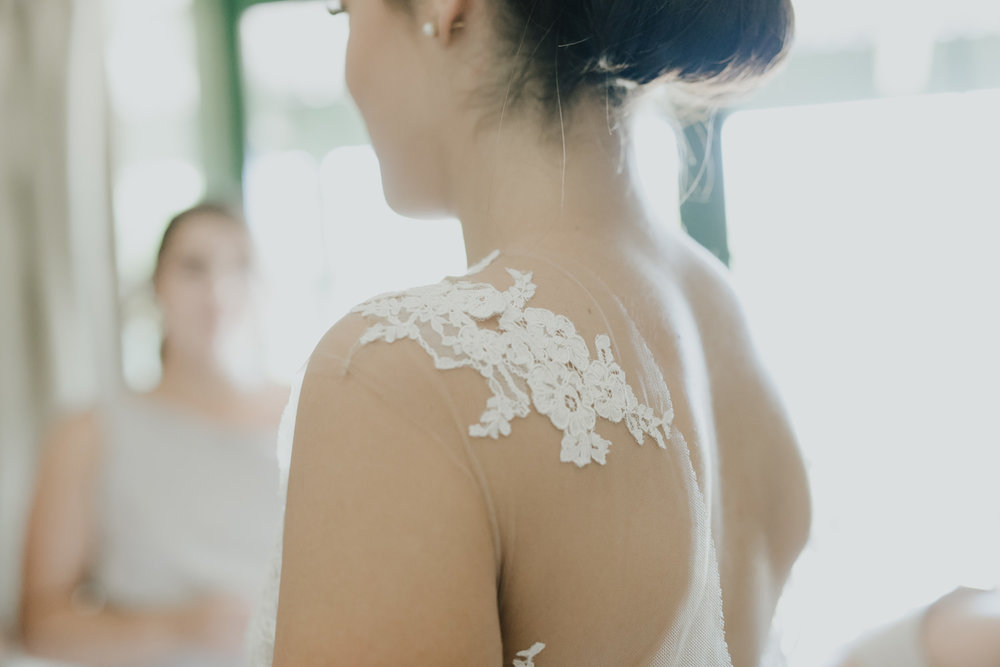 Bride Getting Ready /Pronovias from Marry Me Bridal/  Fitters' Workshop Wedding Canberra : Photography by Jenny Wu Straight No Chaser Photography