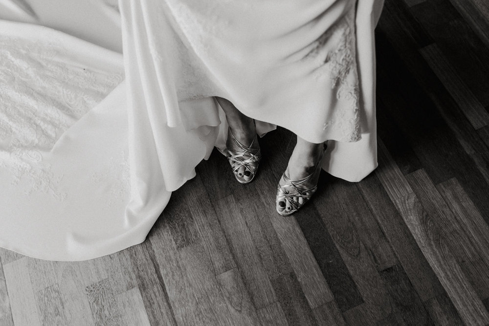 Louboutins/ Pronovias Wedding Dress/ Bride Getting Ready / Fitters' Workshop Wedding Canberra : Photography by Jenny Wu Straight No Chaser Photography