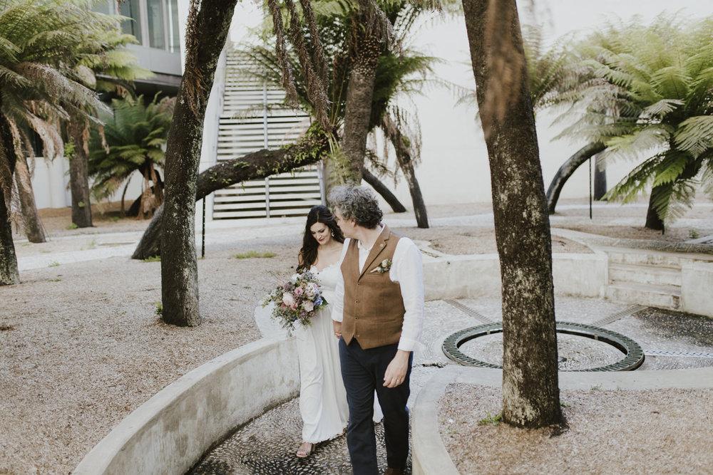 Leah & Rael: NGA Sculpture Garden Wedding