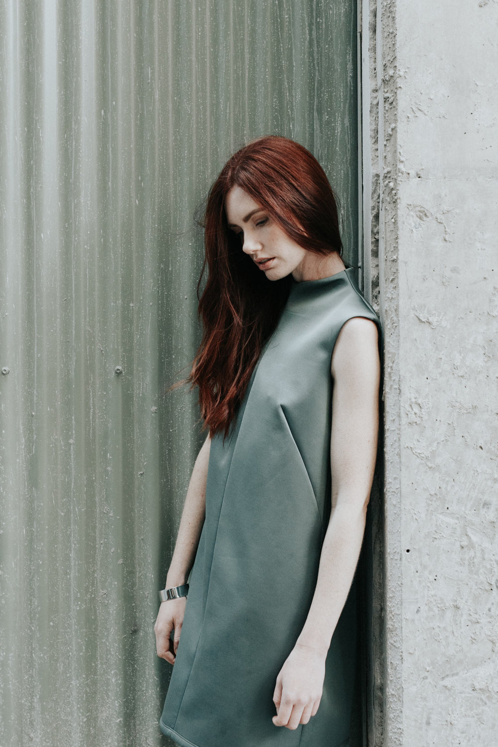Tonal editorial / blue and green color fashion story featuring Hunter The Label, Poshaaq, Edition Label / photography by Jenny Wu Straight No Chaser Canberra