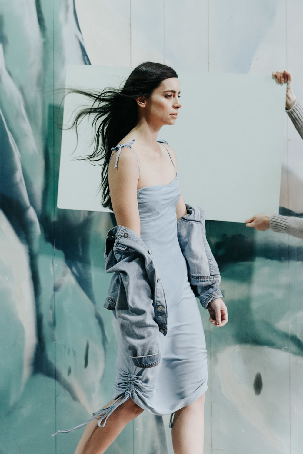 Tonal editorial/blues and greens fashion color story/ Hunter The Label local Canberra Fashion / Photography by Jenny Wu Straight No Chaser / Braddon